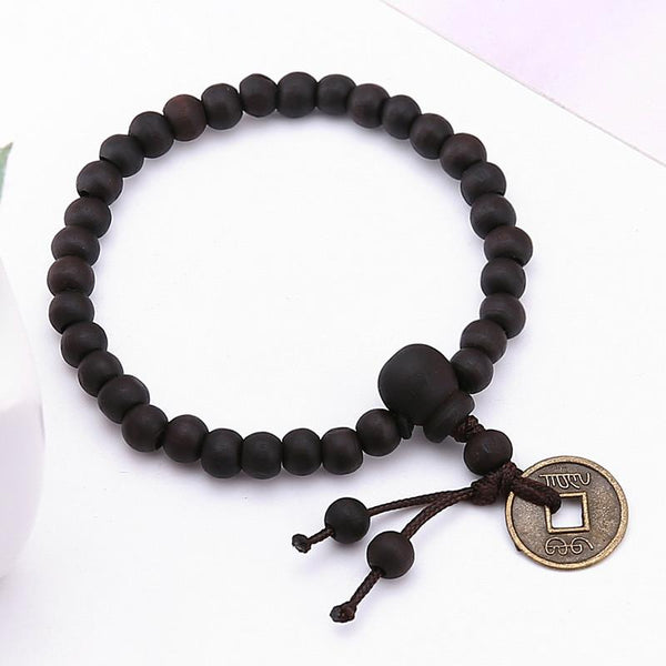 Buddhist Tibetan Prayer Beads Bracelet - Crystals Are Cool