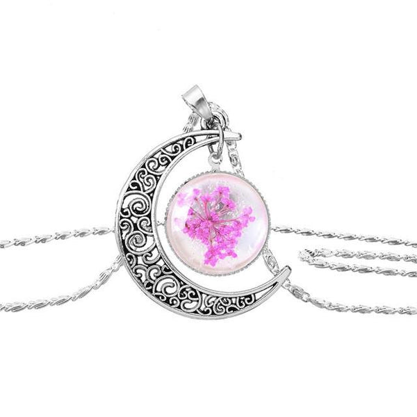 Flower Moon Necklace - Crystals Are Cool