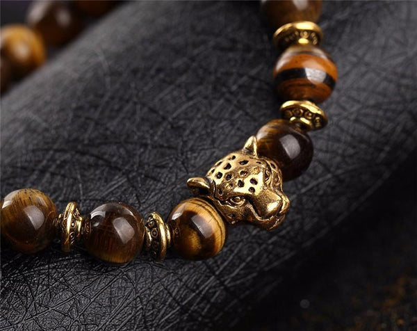 Leopard Tiger's Eye Bracelet - Crystals Are Cool