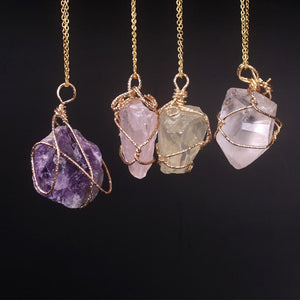 Wire-Wrapped Crystal Necklace - Crystals Are Cool