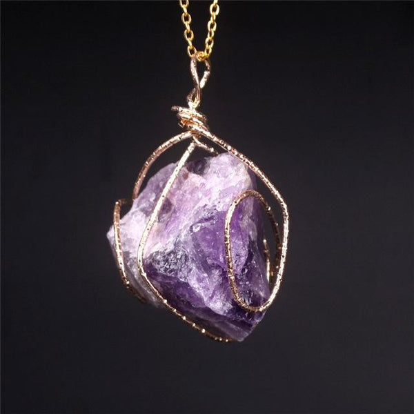 Wire wrapped crystal necklace crystals are cool wire wrapped crystal necklace crystals are cool aloadofball Gallery
