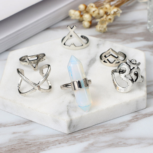 High Vibration Ring Set - Crystals Are Cool