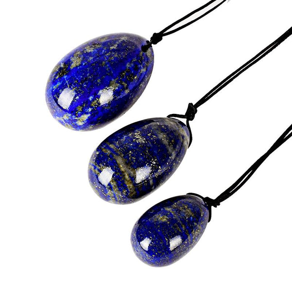 Lapis Lazuli Yoni Egg Set (3pcs) - Crystals Are Cool