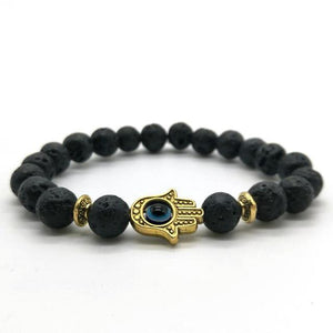 Hamsa Bead Bracelet - Crystals Are Cool