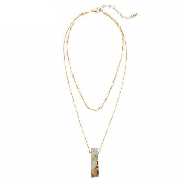 Gold Crystal Drop Necklace - Crystals Are Cool
