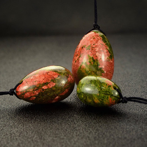 Unakite Yoni Egg Set (3 pcs) - Crystals Are Cool
