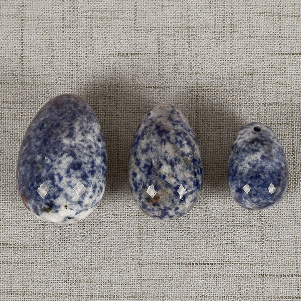 Sodalite Yoni Egg Set (3 pcs) - Crystals Are Cool