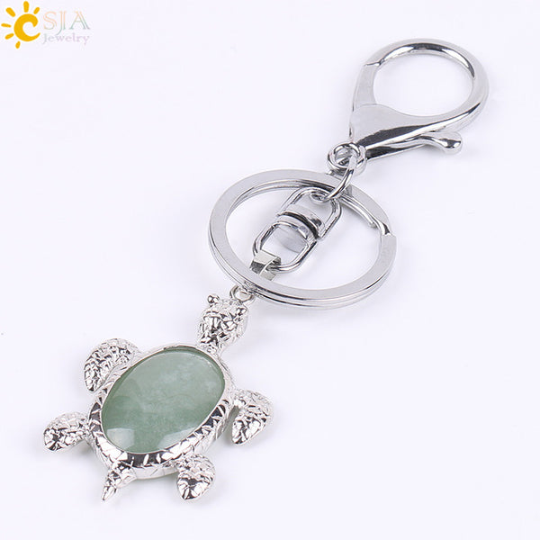 Crystal Turtle Keychains - Crystals Are Cool
