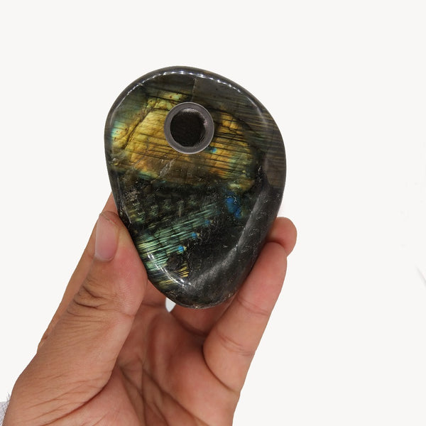 Natural Labradorite Crystal Pipe - Crystals Are Cool