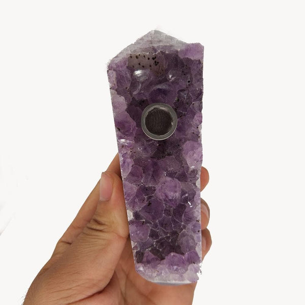Natural Amethyst Crystal Wand - Crystals Are Cool