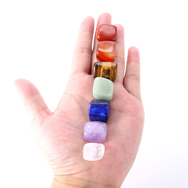 7 Chakra Tumble Stone Set - Crystals Are Cool