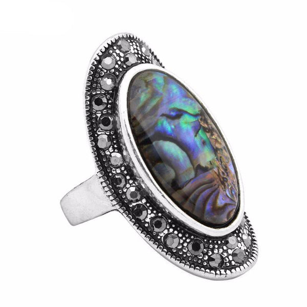 Abalone Shell Ring - Crystals Are Cool