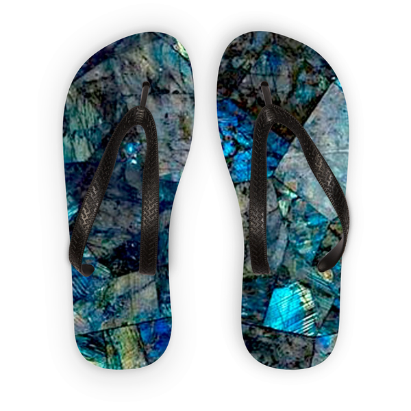 Labradorite Flip Flops - Crystals Are Cool