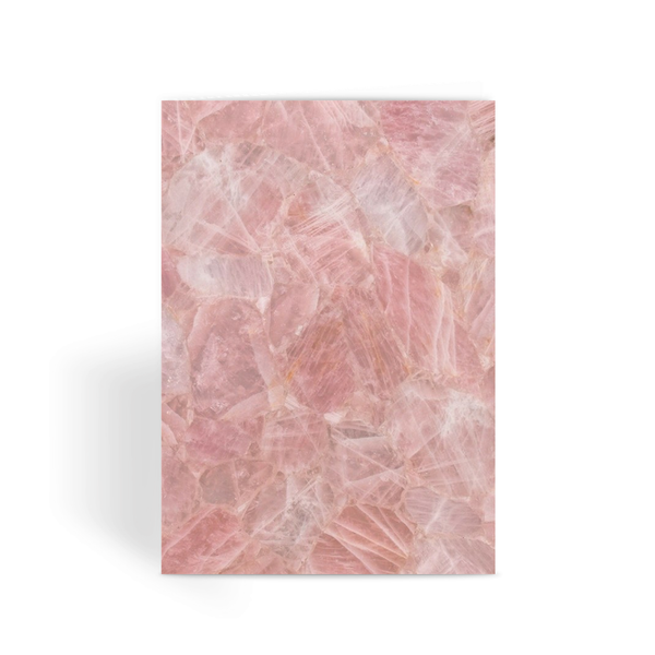 Rose Quartz Greeting Card - Crystals Are Cool
