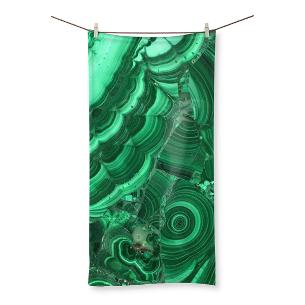 Malachite Beach Towel - Crystals Are Cool