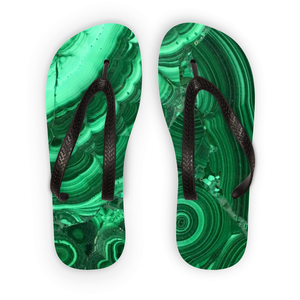 Malachite Flip Flops - Crystals Are Cool