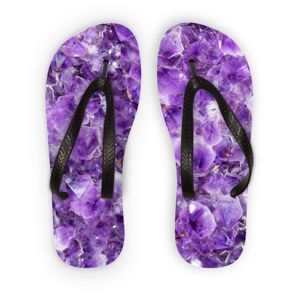 Amethyst Flip Flops - Crystals Are Cool