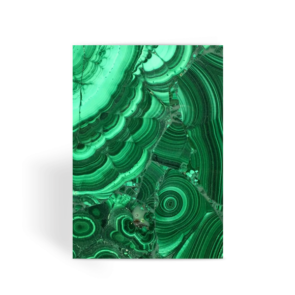 Malachite Greeting Card - Crystals Are Cool