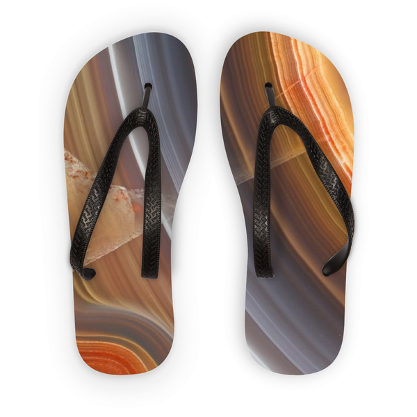 Agate Flip Flops - Crystals Are Cool