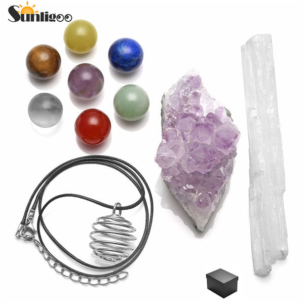 Spirit Kit with Selenite & Amethyst - Crystals Are Cool