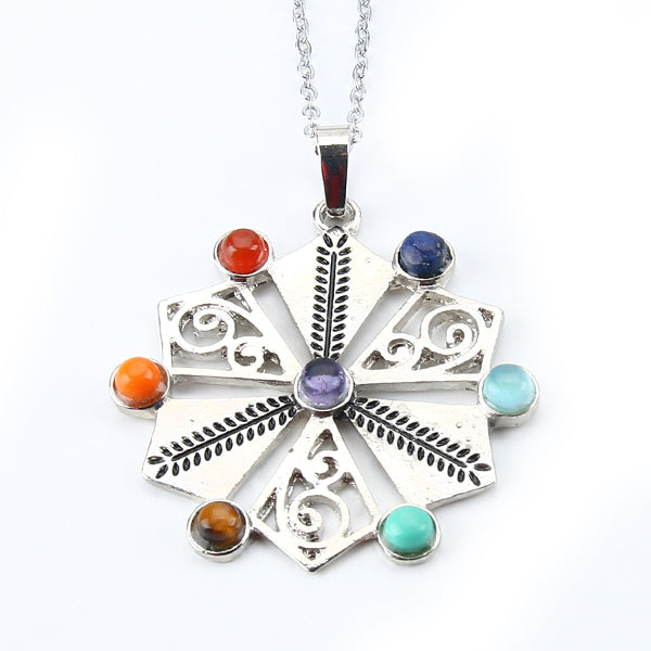 7 Chakra Stones Healing Necklace - Crystals Are Cool