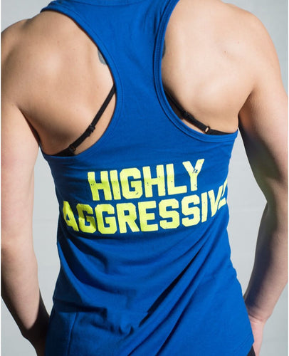 Highly Aggressive Women's Tank - Blue