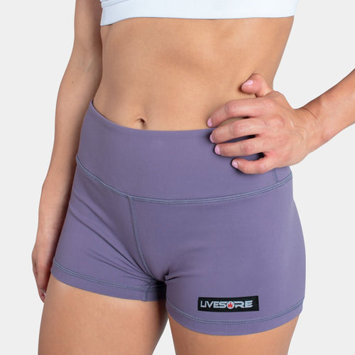 Deep Purple Fire Booty Shorts