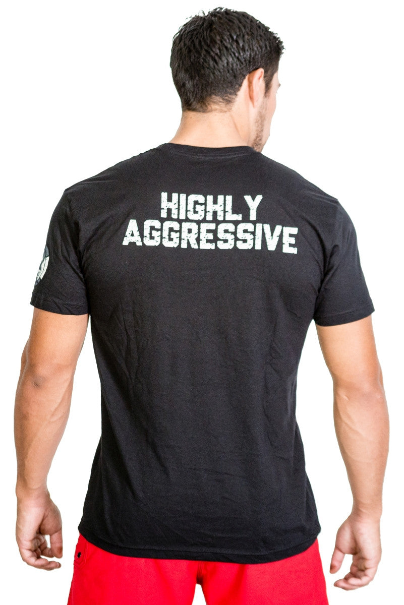 Highly Aggressive Men's Shirt- Black