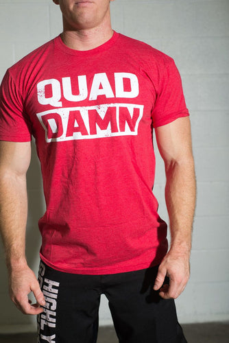 Quad Damn Men's T-Shirt - Red