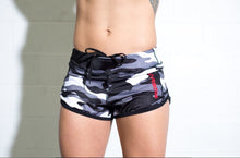 Black and White Camo Speed Shorts
