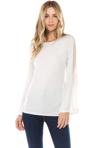 CALLIOPER LONG SLEEVE TOP (IVORY)- VT2432