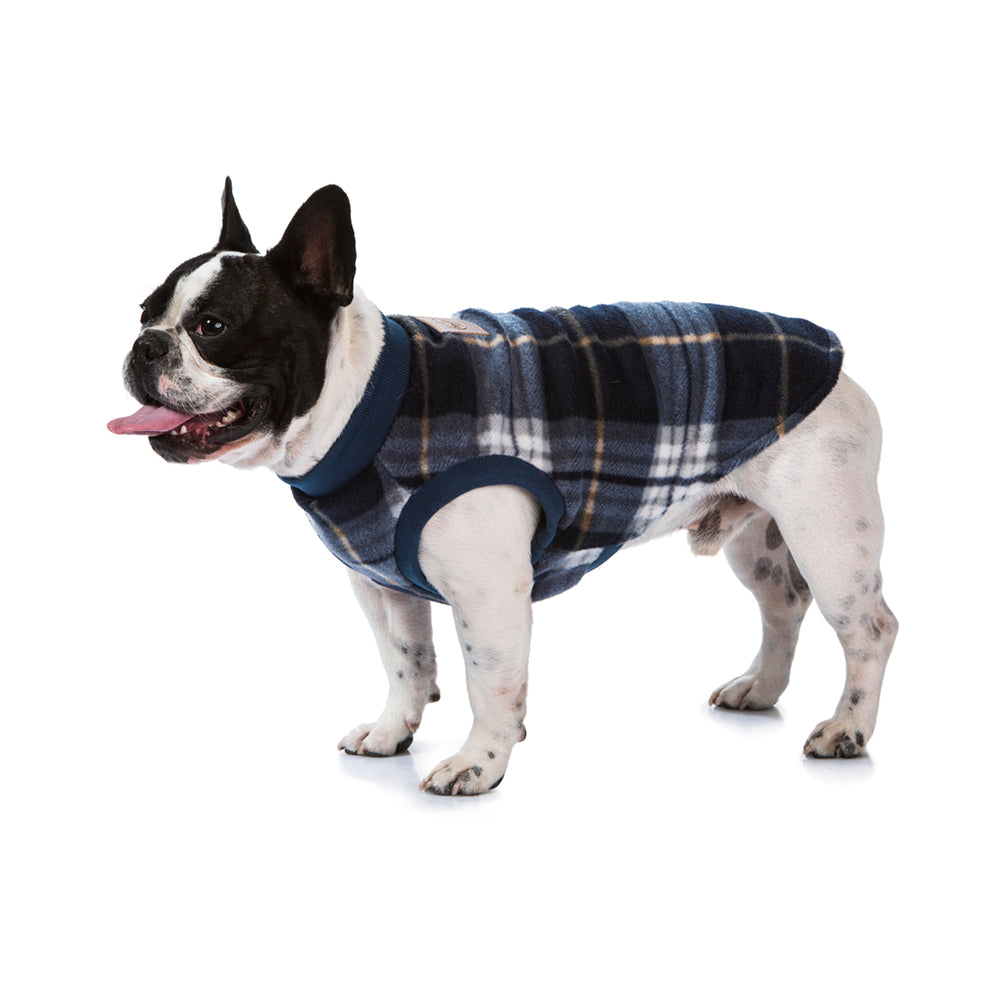 Blue tartan dog pyjamas