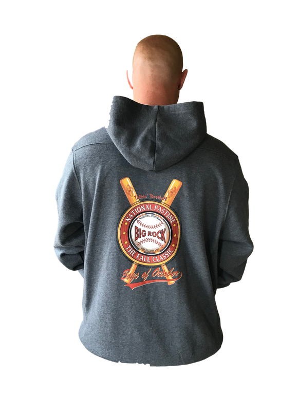 National Pastime Baseball hoodie With Laces in Front