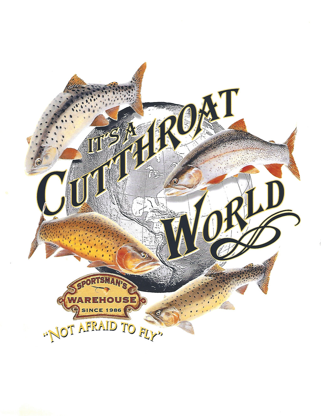 Value Rock Cutthroat World T shirt( Fit Is Like Standard Tee)