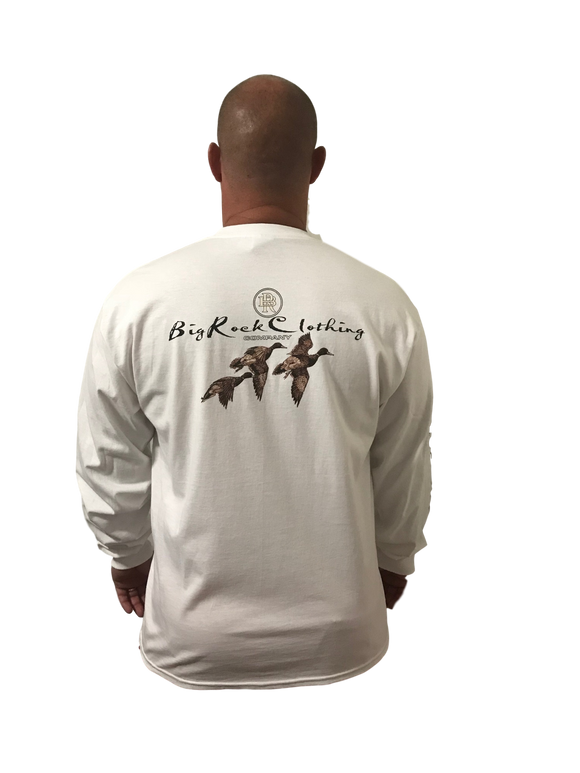 Long Sleeve Duck In Flight (Not a Big Rock Brand Shirt. Fit is like standard Tee)