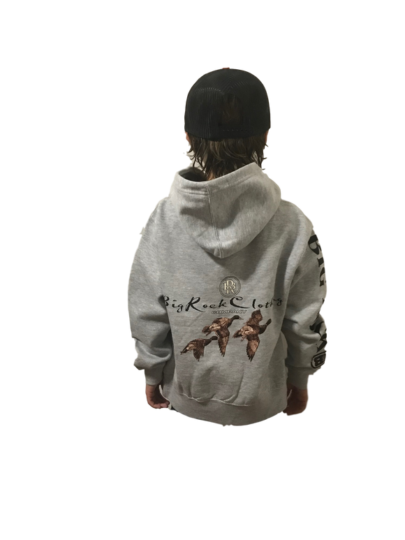 Kids Pullover Hoodie Ducks In Flight