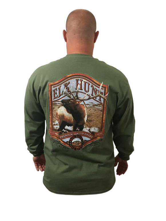 Long Sleeve Elk Hunt (Not a Big Rock Brand Shirt. Fit is like standard Tee)