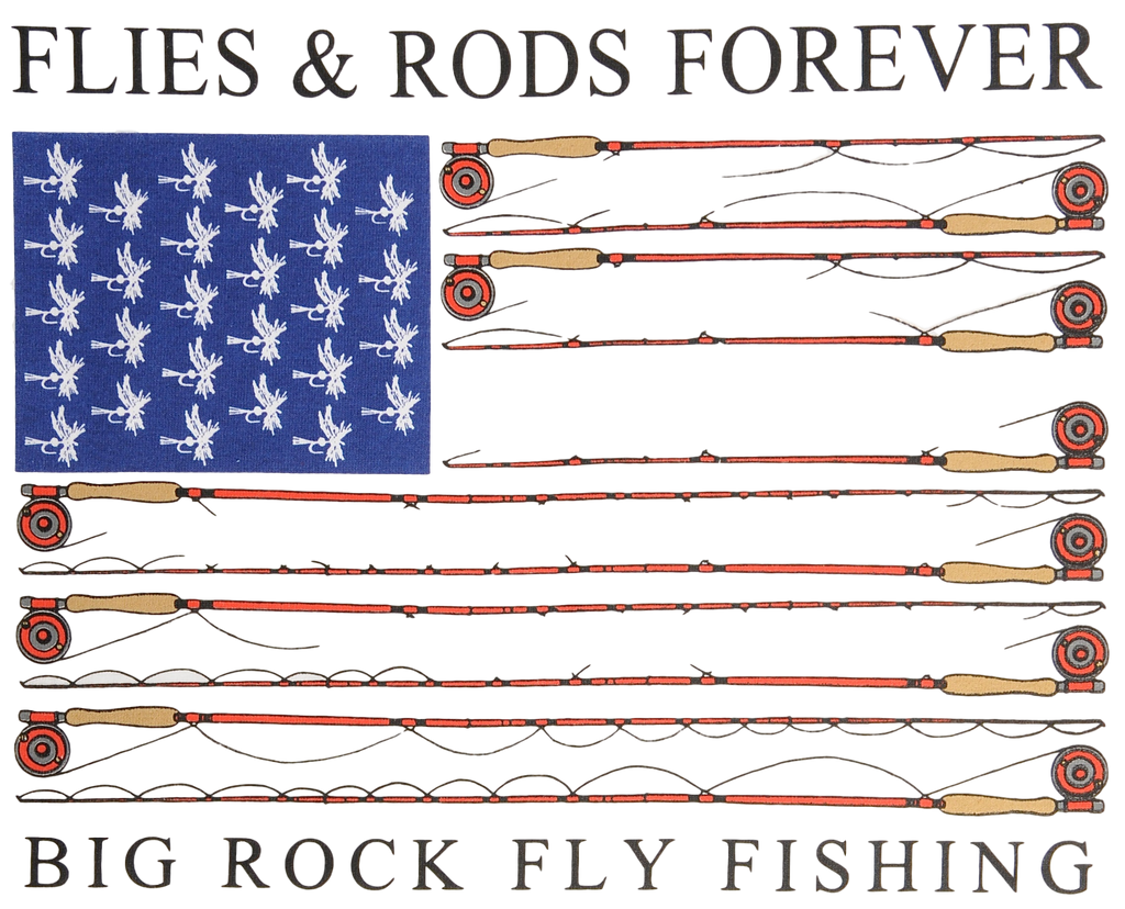 Value Rock Short Sleeve Flies And Rods Forever ( Fit is like standard Tee)
