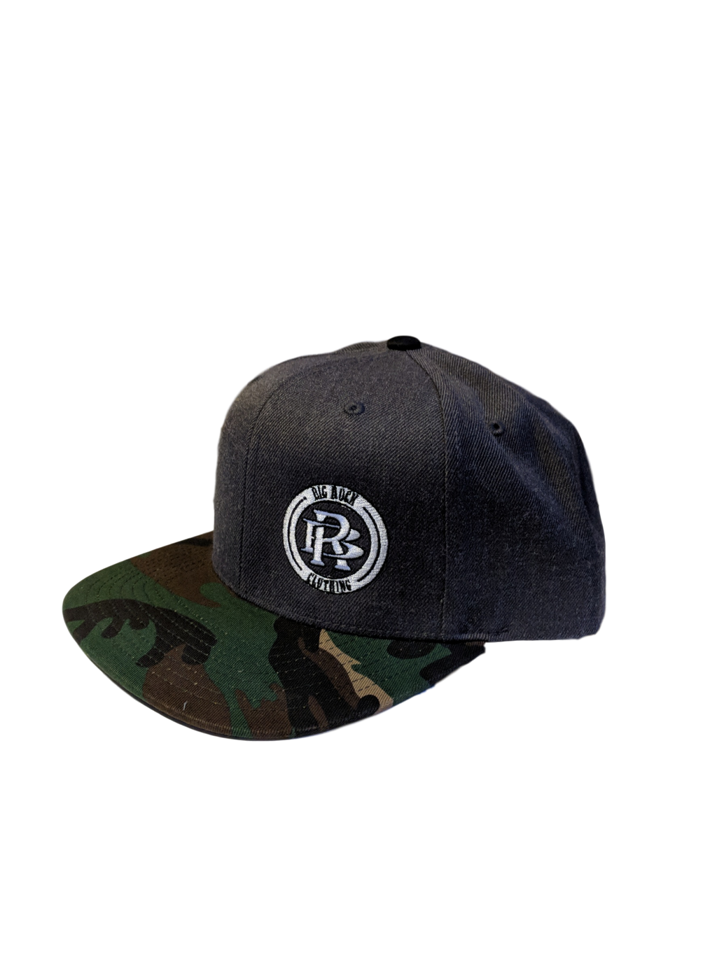 Hat- 6 Panel Wool Snapback Flat Brim