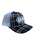 Hat-Plaid Trucker Twill Mesh Snapback