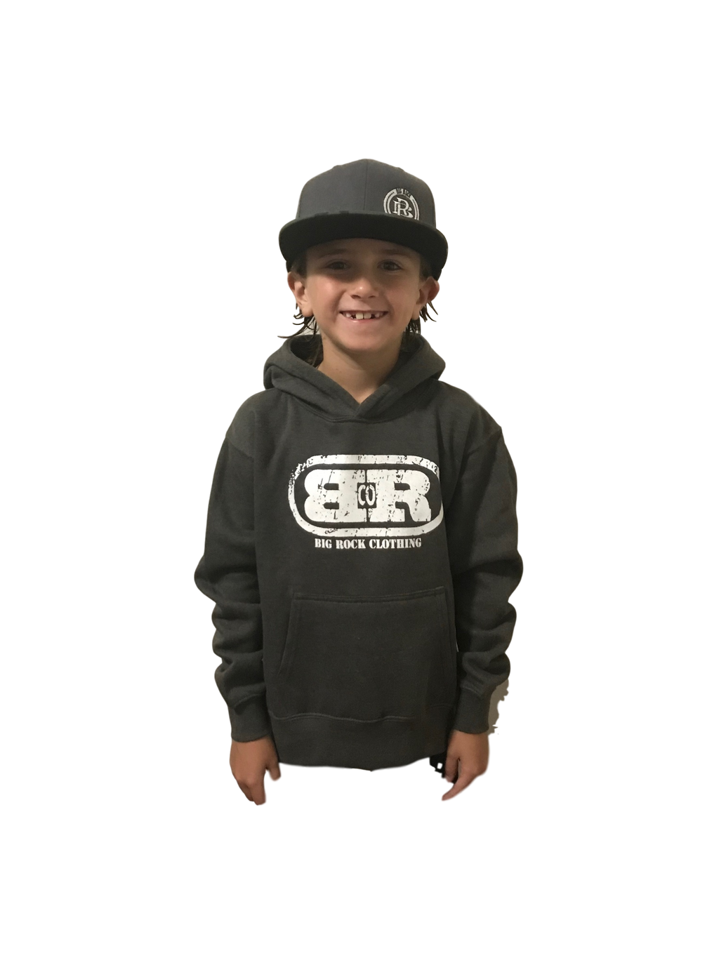 Kids Pull Over Hoodie Big Rock Oval Logo