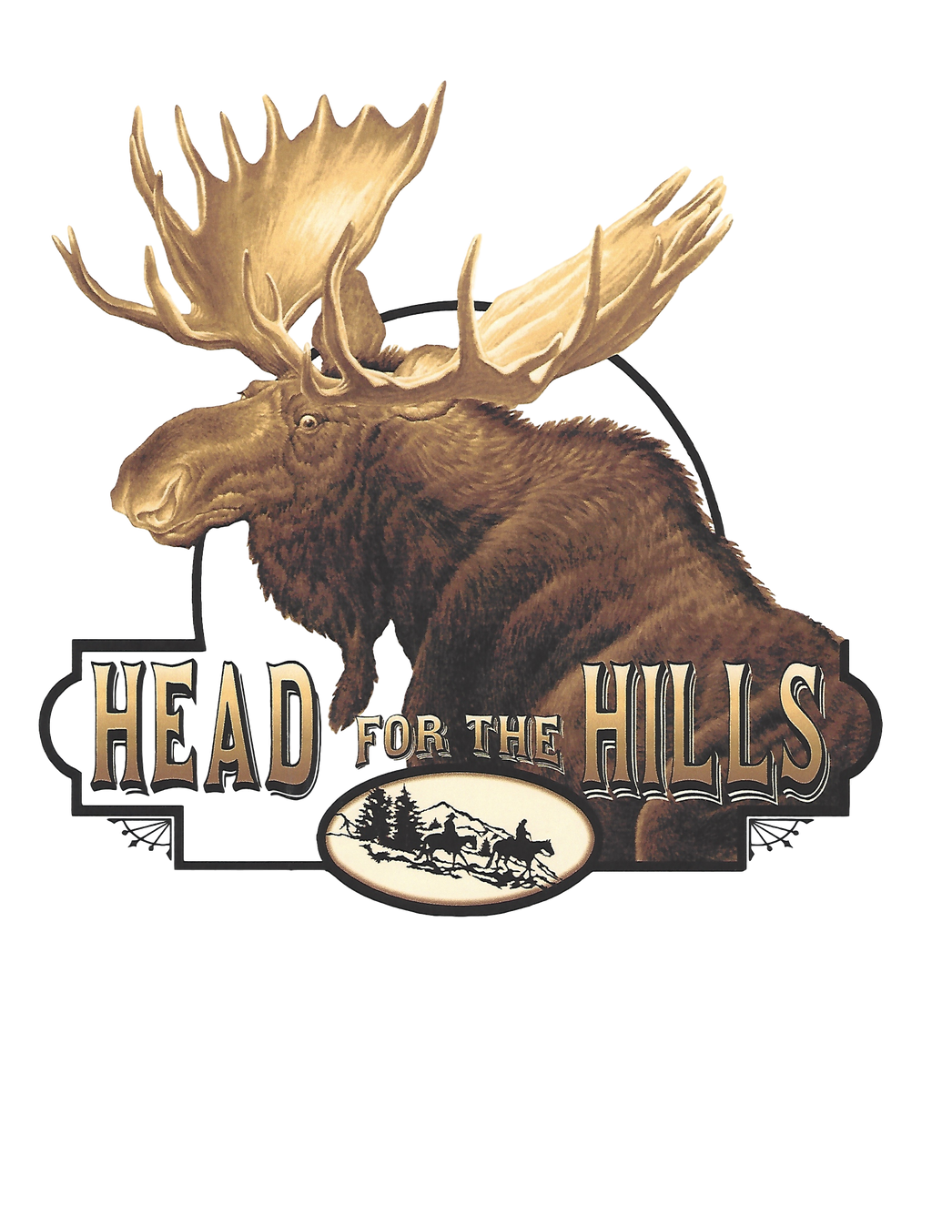 Classic Rock Head for the Hills Moose
