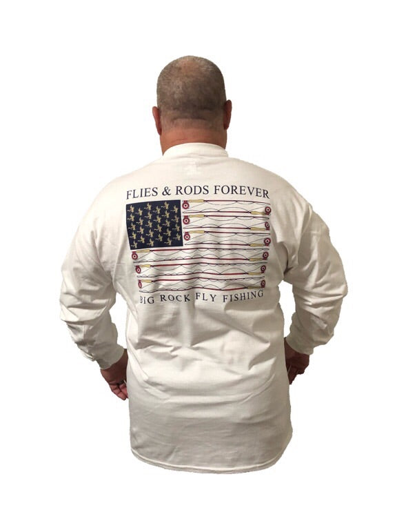 Long Sleeve Flies And Rods Forever (Not a Big Rock Brand Shirt. Fit is like standard Tee)