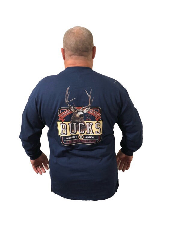 Long Sleeve New Monster Muley (Not a Big Rock Brand Shirt. Fit is like standard Tee)