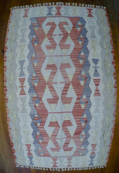 "New Wool on Wool Kilim 3'5"" X 5'9"""