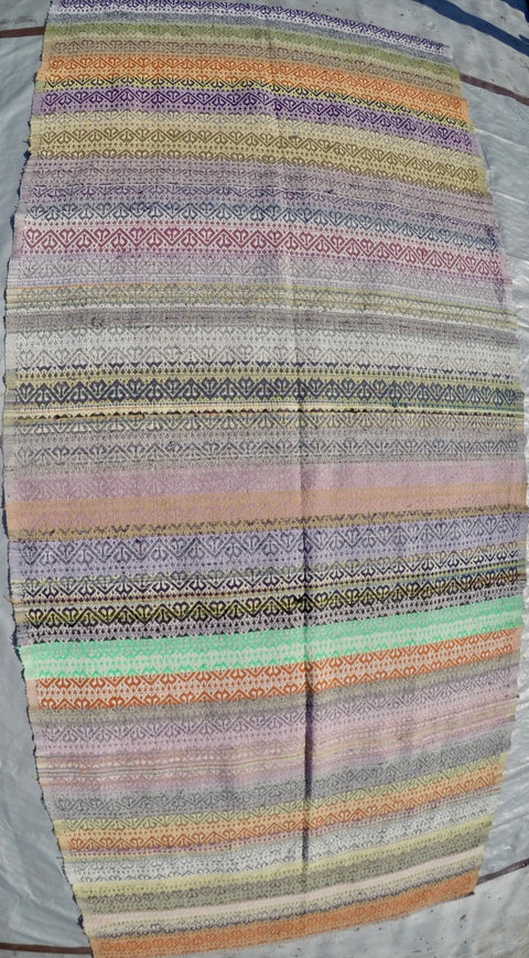 "New Handwoven 100% Cotton Anatolian Kilim 4'9"" X 10'7"""