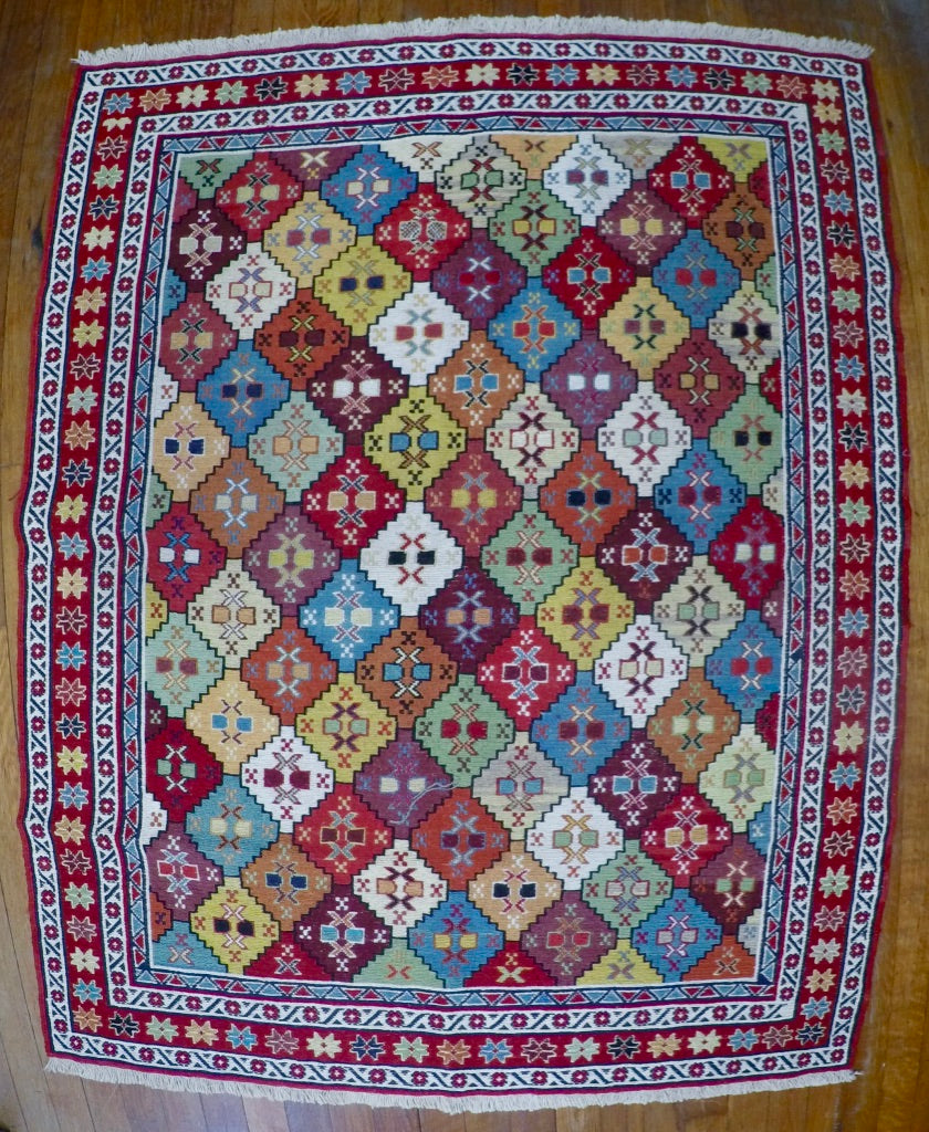 "New Wool on Cotton Rahra Soumak 3'6"" X 4'6"""
