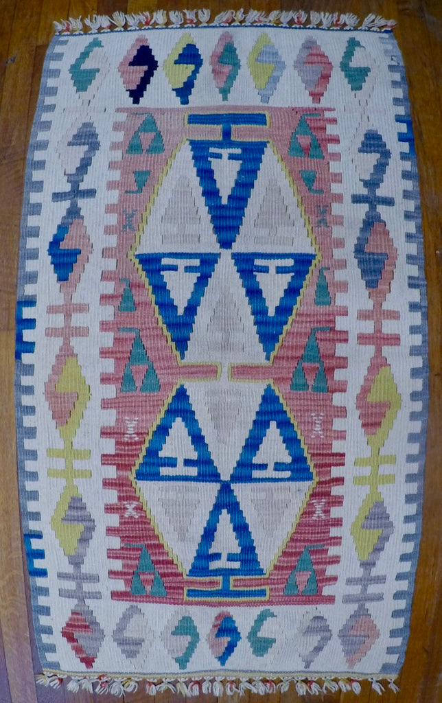 "New Wool on Wool Kilim 2'3"" X 4'"