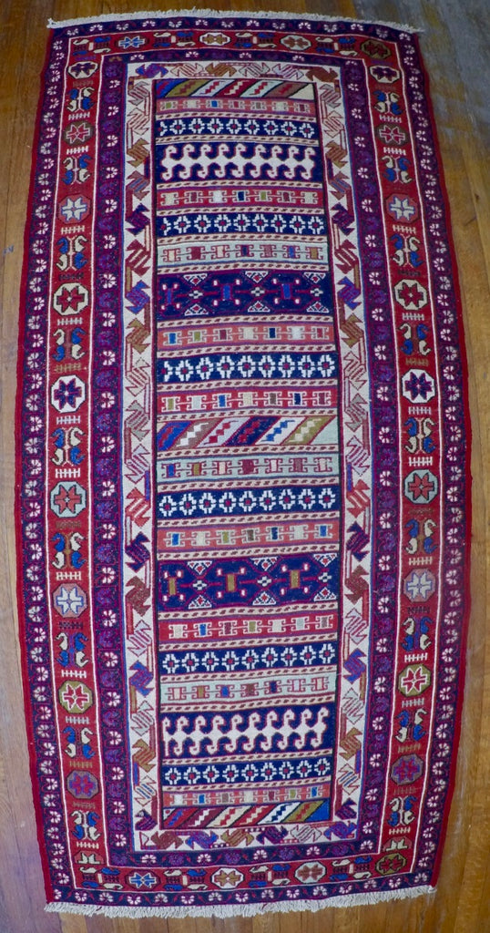 "New Wool on Cotton Rahra Soumak 2'8"" X 6'3"""