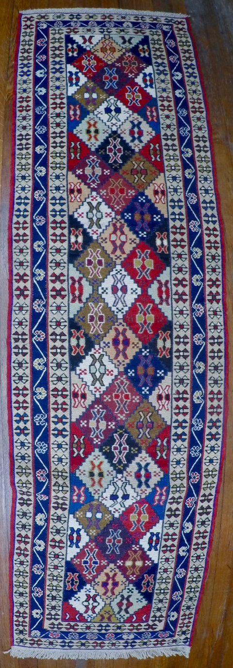 "New Wool on Cotton Rahra Soumak 1'10"" X 6'8"""